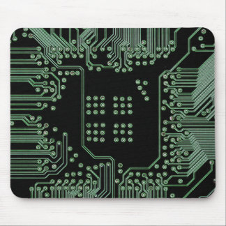 Green Circuit Board Mouse Pad