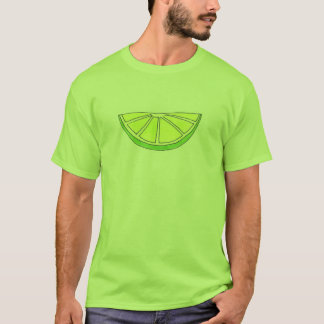 Green Citrus Fruit Lime Wedge Slice Tee