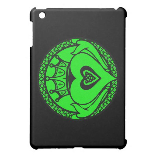 Green Claddagh iPad Mini Covers