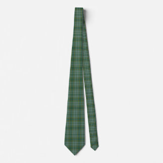 Green Clan Currie Tartan Plaid Neck Tie