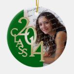 Green Class 2014 Graduation Photo Christmas Ornament