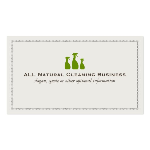 Create Your Own Cleaner Business Cards - Page3