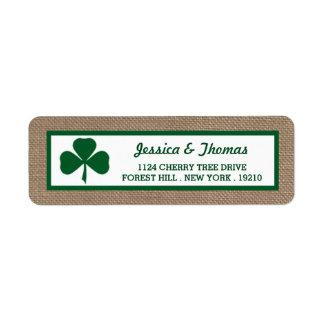 Green Clover & Burlap St. Patrick's Day