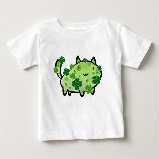 Green Clover Cat Infant T-shirt