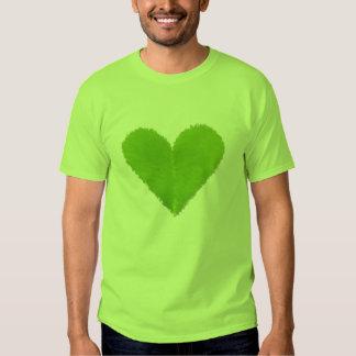 Green Clover Heart Tees