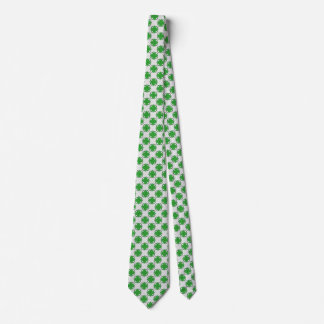 Green Clover Ribbon Tie