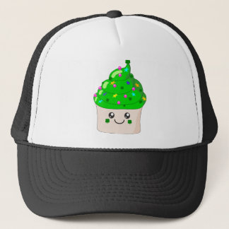 Green Clover St Patricks Day Cute Cupcake Trucker Hat