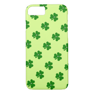Green clover, white pearle for St. Patrick's day iPhone 7 Case