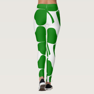 Green Clover with Safety pin Leggings
