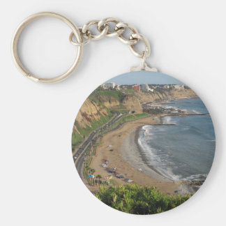 Green Coast beach in Lima-Peru Key Ring