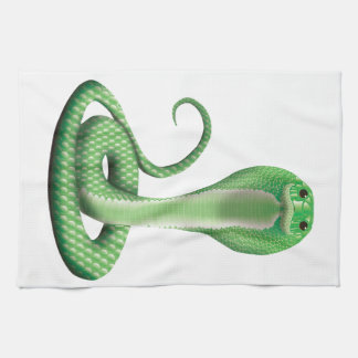 GREEN COBRA TEA TOWEL