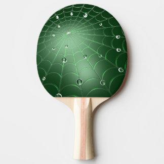 Green Cobweb Ping Pong Paddle