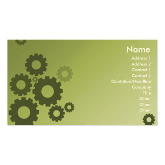 Green Cogs - Business Pack Of Standard Business Cards