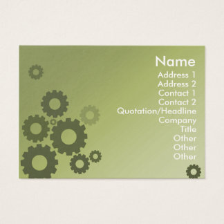 Green Cogs - Chubby Business Card
