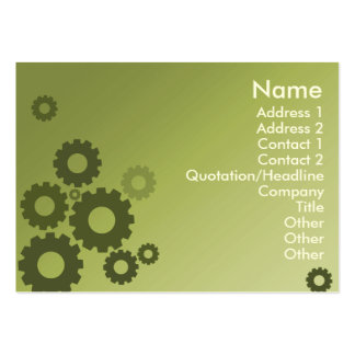 Green Cogs - Chubby Pack Of Chubby Business Cards