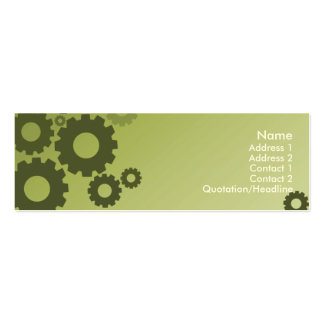 Green Cogs - Skinny Pack Of Skinny Business Cards