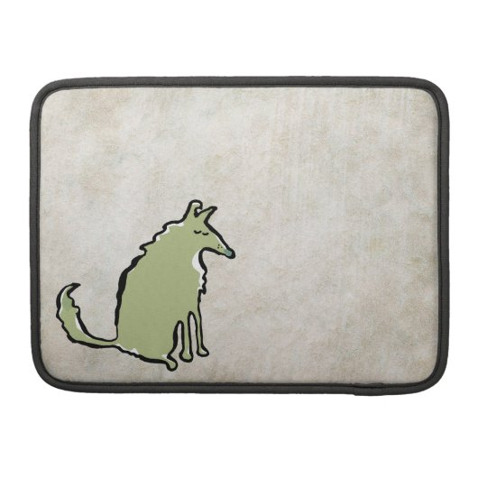 green collie and bone sleeve for MacBooks
