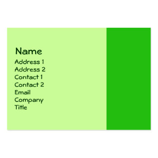 green color business card template