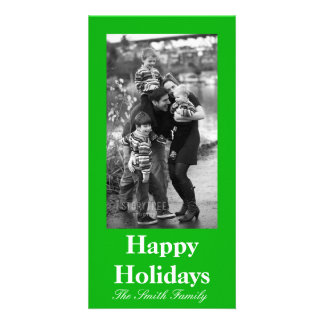 Green Color Customizable Card