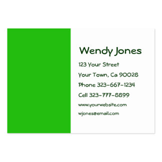 green color pack of chubby business cards