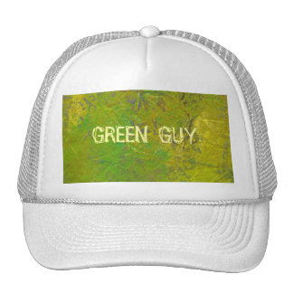 Green colorful fun unique modern painting art trucker hat