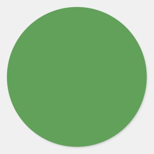 Green Colour Circle Round Sticker | Zazzle