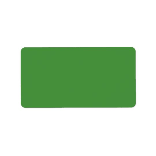 Green Colour Personalised Address Label