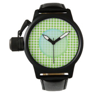 Green Coloured Polkadot. Watch