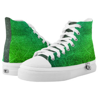 Green Colourful High Top Shoes Printed Shoes