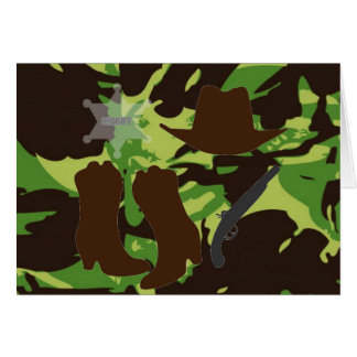 Green Combat Pattern Card