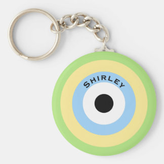 Green Combination Bullseye by Shirley Taylor Key Ring