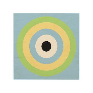 Green Combination Bullseye by Shirley Taylor Wood Print