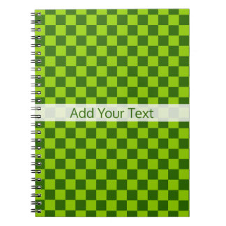 Green Combination Classic Checkerboard by STaylor Spiral Notebooks