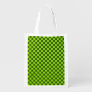 Green Combination Diamond-Checkerboard