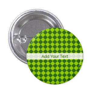 Green Combination Diamond Pattern by STaylor 3 Cm Round Badge