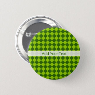 Green Combination Diamond Pattern by STaylor 6 Cm Round Badge