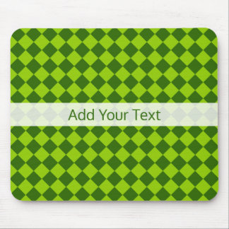 Green Combination Diamond Pattern by STaylor Mouse Mat