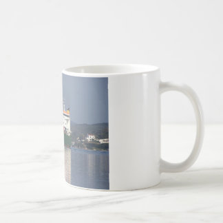 Green Commercial Vehical Ferry Basic White Mug