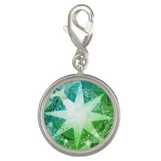 Green Compass Gemstone Rhinestone Look