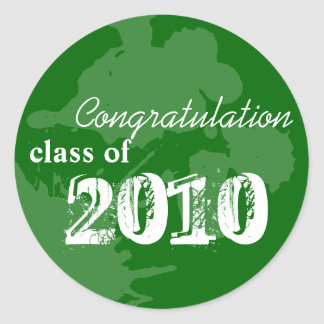 Green congratulation class of graduation gift tag