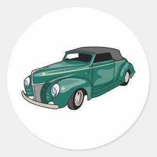 Green Convertible Classic Round Sticker
