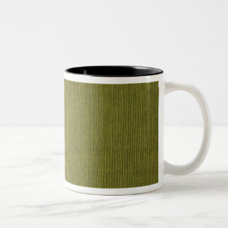 Green Corduroy Two-Tone Coffee Mug