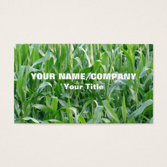 Green Cornfield Agriculture Business Card