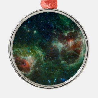 Green Cosmos Heart and Soul Nebula Maffei 1 and 2 Christmas Ornament