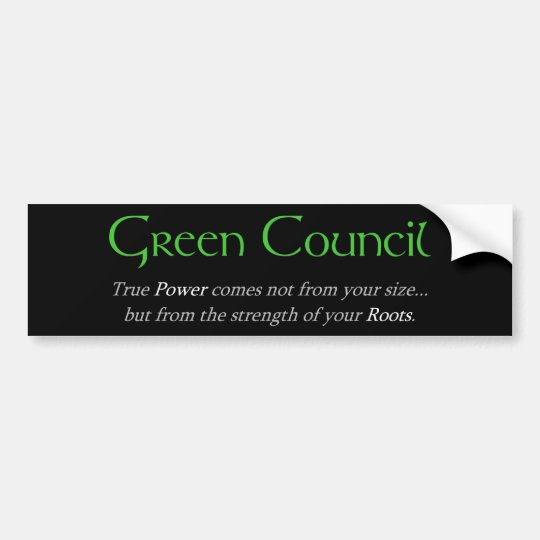 Green Council Bumper Sticker