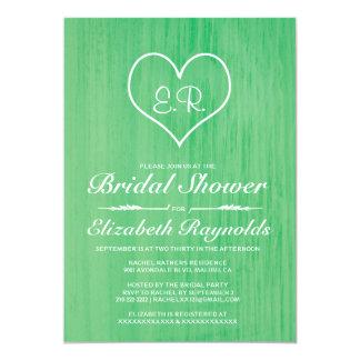 "Green Country Bridal Shower Invitations 5"" X 7"" Invitation Card"