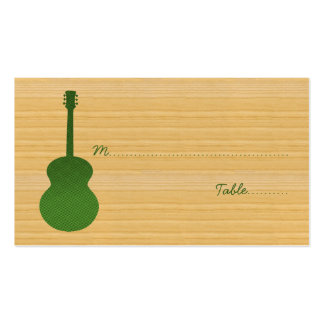 Green Country Guitar Place Card Business Card Template