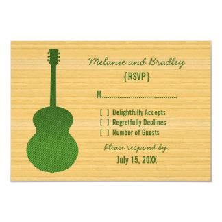 "Green Country Guitar Response Card 3.5"" X 5"" Invitation Card"