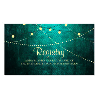 Green Country Lights Wedding Registry Card Pack Of Standard Business Cards