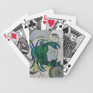 Green crab bicycle playing cards